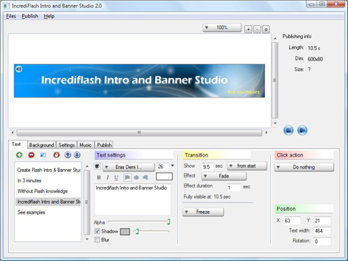 IncrediFlash Intro and Banner Studio 2.0