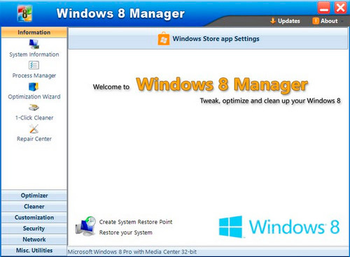 Windows 8 Manager 2.2.3